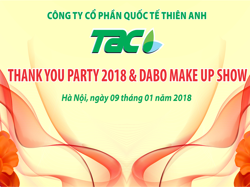 Chương trình THANK YOU PARTY 2018, DABO MAKE UP SHOW