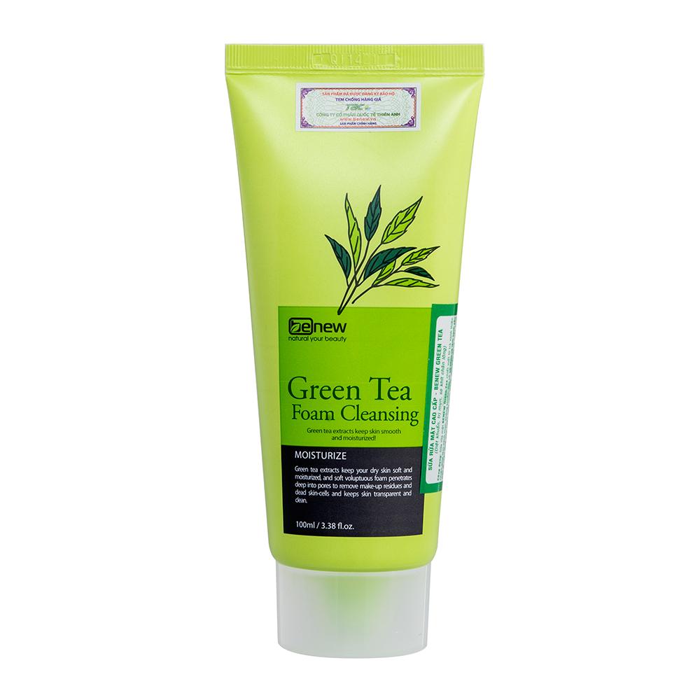 Sữa rửa mặt trị mụn Trà xanh cao cấp Hàn Quốc - BENEW Green Tea 100ml